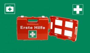 Erste-Hilfe-Koffer, Orange
