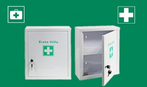 Erste-Hilfe-Schrank pulverbeschichtet