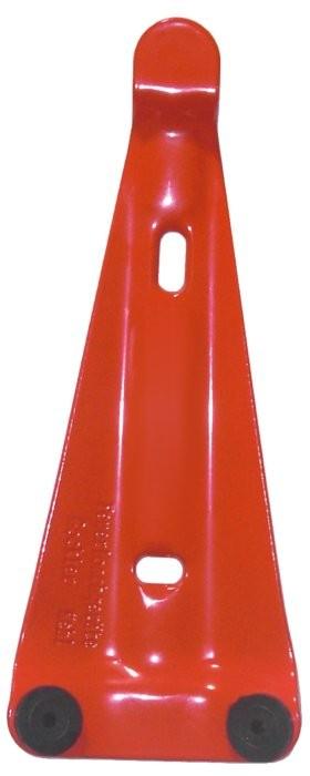Wandhalterung für Feuerlöscher rot lackiert mit 2 Gummiauflagen Feuerlöscher Schaum Wasser Pulver Fettbrand CO2 , 2 / 3 / 4 / 6 / 9 / 12 kg / L Gerät