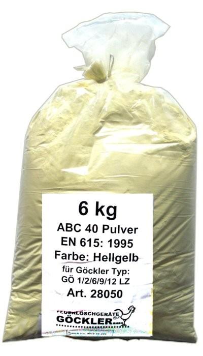 1x6kg ABC 40 Pulver Farbe: Hellgelb für GÖ 1/ 2/ 6/ 9/ 12 LZ