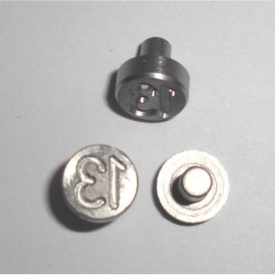 Plombenzangeneinsatz Edelstahl 8 mm Gravur Jahr 12