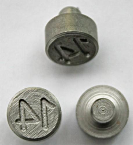 Plombenzangeneinsatz Edelstahl 10 mm Gravur Jahr 14