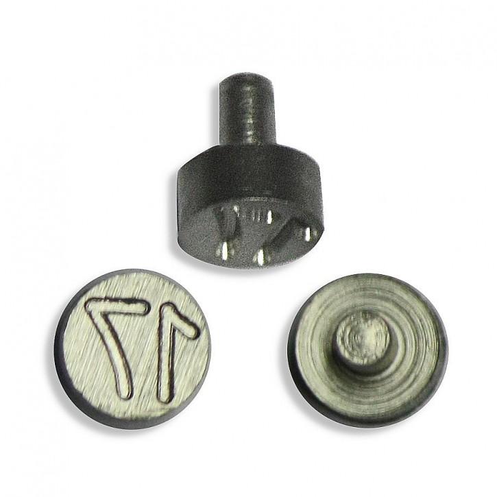 Plombenzangeneinsatz Edelstahl 8 mm Gravur Jahr 17