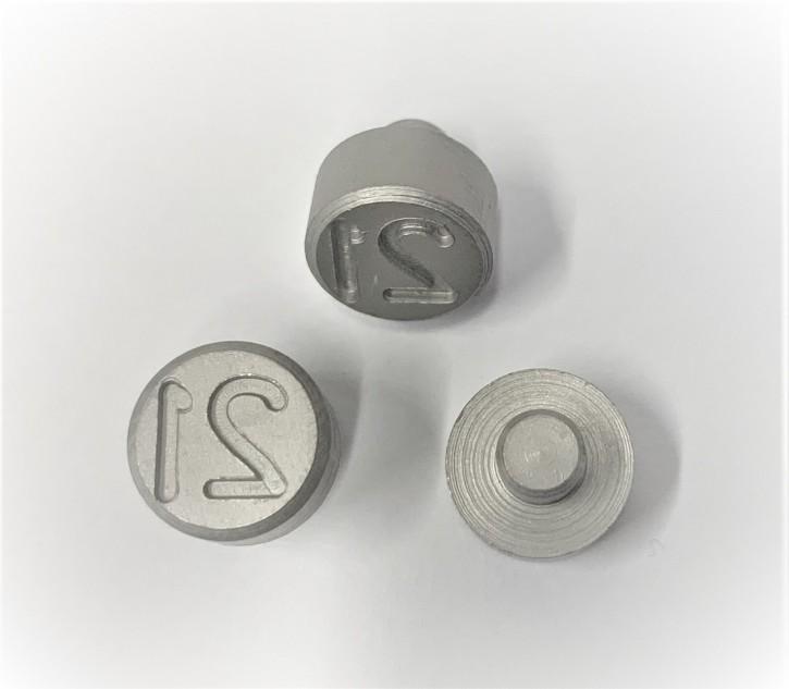 Plombenzangeneinsatz Edelstahl 8 mm Gravur Jahr 21