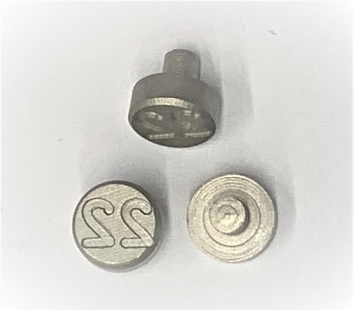 Plombenzangeneinsatz Edelstahl 8 mm Gravur Jahr 22
