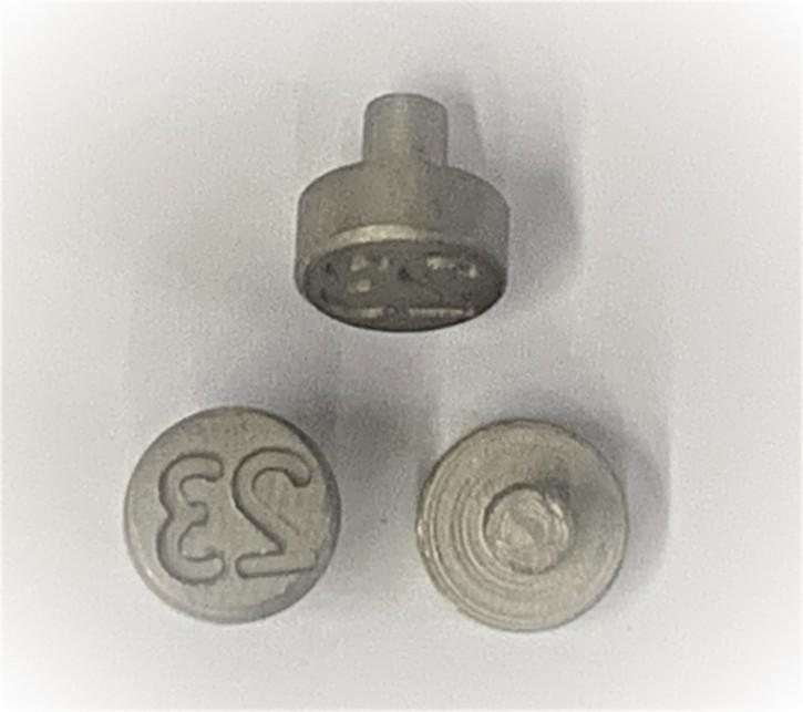 Plombenzangeneinsatz Edelstahl 8 mm Gravur Jahr 23