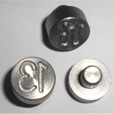 Plombenzangeneinsatz Edelstahl 10 mm Gravur Jahr 12