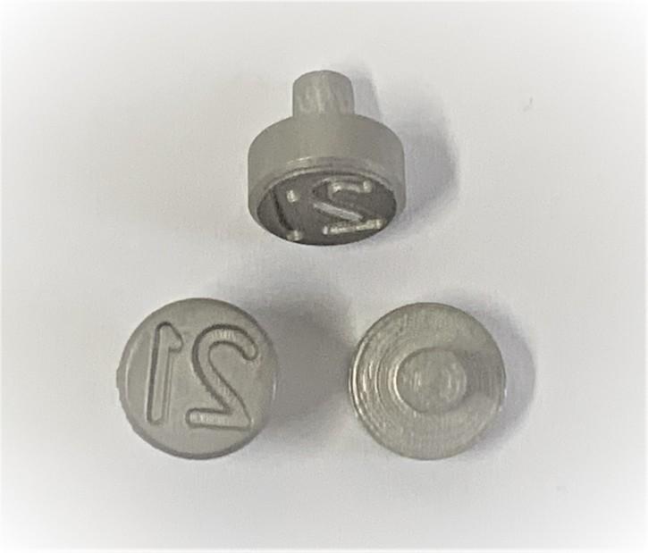 Plombenzangeneinsatz Edelstahl 10 mm Gravur Jahr 21