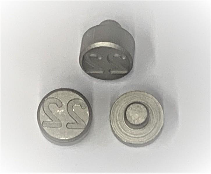 Plombenzangeneinsatz Edelstahl 10 mm Gravur Jahr 22