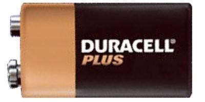 9 Volt DURACELL PLUS Blockbatterie