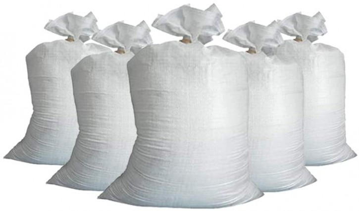 5 x Sandsack 60 x 30 cm aus Chemiefasergewebe -ungefüllt-