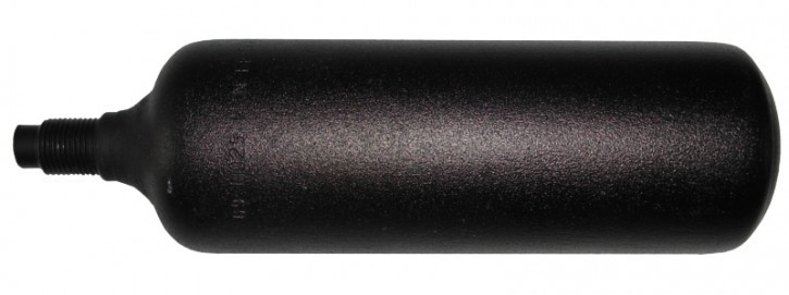 CO2 Einweg Patrone Essmann/ Jet mit Gewinde M14x1, 25, schwarz 150 g, Temperatur 68° mit Steigrohr