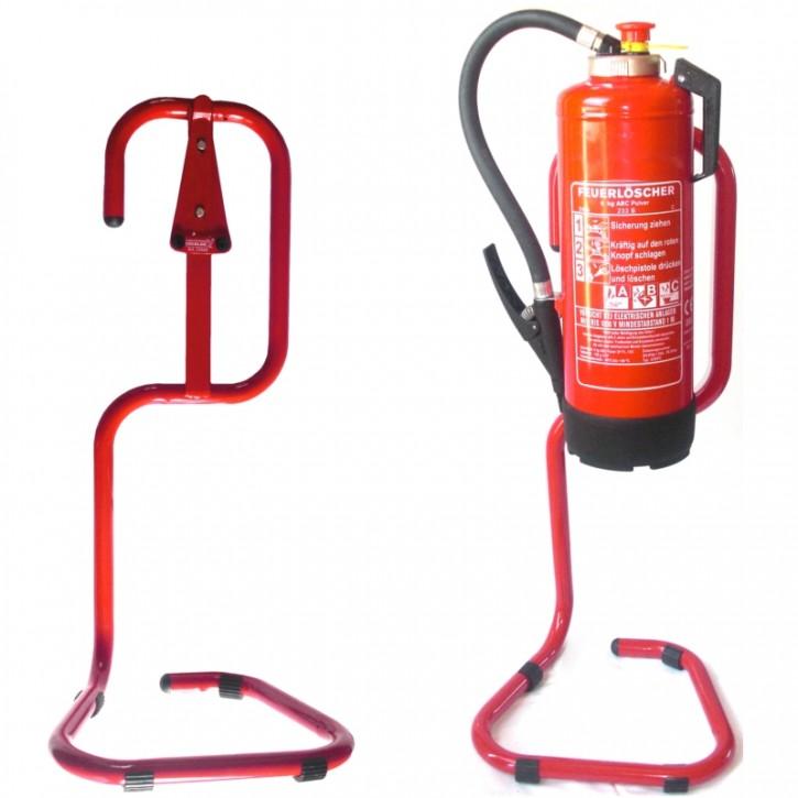 Feuerlöscher Ständer in rot Feuerlöscherständer für 6 9 12 kg Löscher rund gebogen