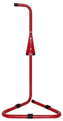 Feuerlöscher- Ständer Rohrstahl rot lackiert mit Griff