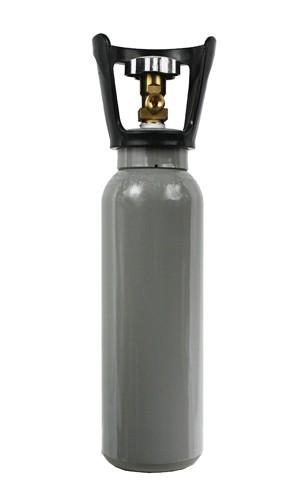 2 kg CO2 Stahl Flasche NEU Aquaristik Drehventil VOLLl mit Ventilschutzkorb 10 Jahren TÜV
