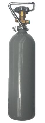 2 kg CO2 Stahl Flasche NEU Aquaristik Drehventil VOLL 10 Jahren TÜV Schutzkorb Kohlensäure