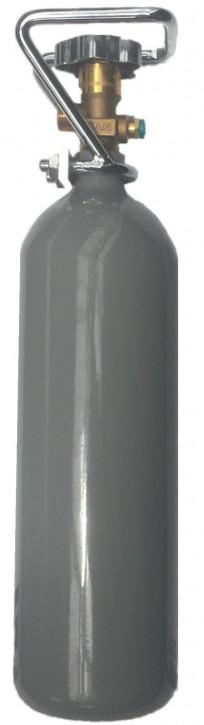 2 kg CO2 Aquaristik- Stahl- Flasche mit Drehventil mit Metall Ventilschutzkorb NEU VOLL 10 Jahren TÜV