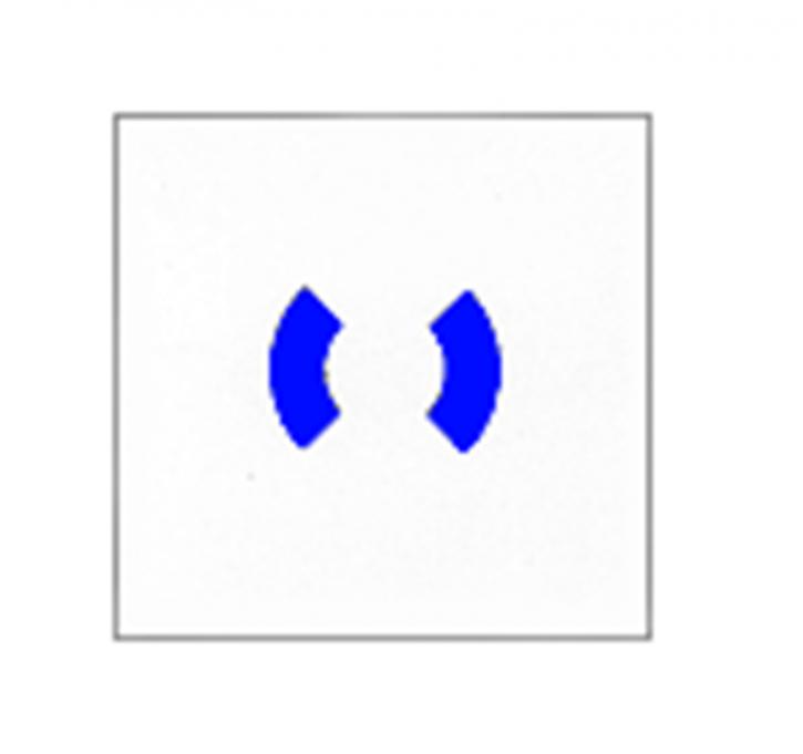Ersatzscheibe Gr. ca. 80x80x0, 9mm blau