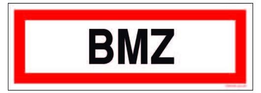 BMZ Textschild DIN 4066 297 x 105 mm