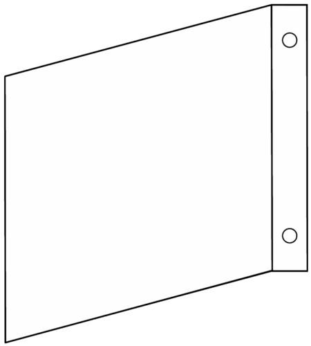 Fahnenschild blanko Gr.: 150 x 150 mm