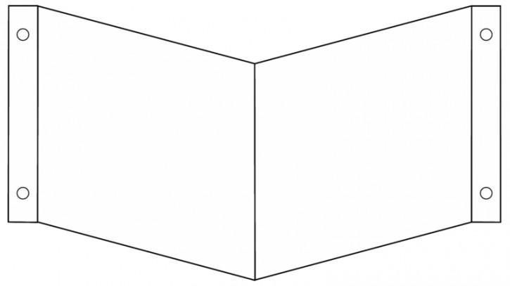 Winkelschild/ Nasenschild blanko Gr.: 150 x 150 mm