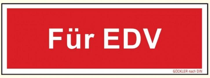 Kunststoff-Platte Nachleuchtend, 150 x 52 mm, Für EDV Zusatzschild zu Feuerlöscher Symbol Schild F05