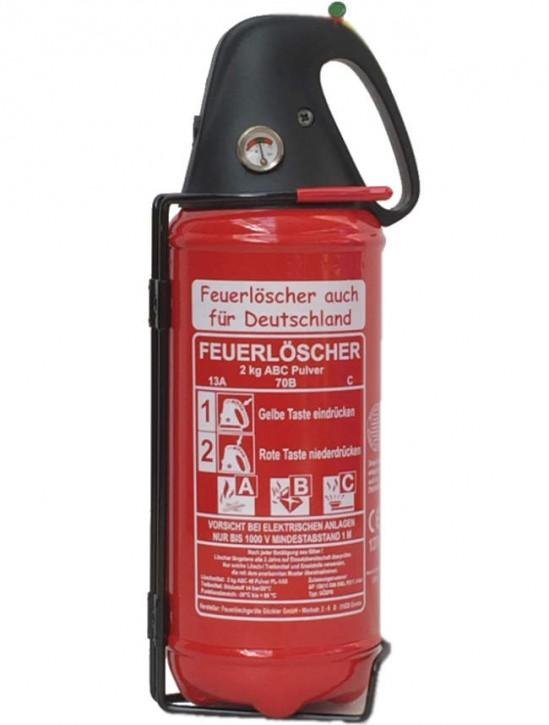 2 kg Feuerlöscher Pulver ABC DIN EN 3 Auto Boot Freizeit Camper KFZ Halter, mit oder ohne Instandhaltungsnachweis erhältlich!