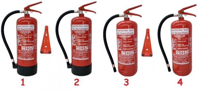 6kg ABC Pulver Feuerlöscher auch für Deutschland EN 3; 9 LE, 27 A, 144 B, C
