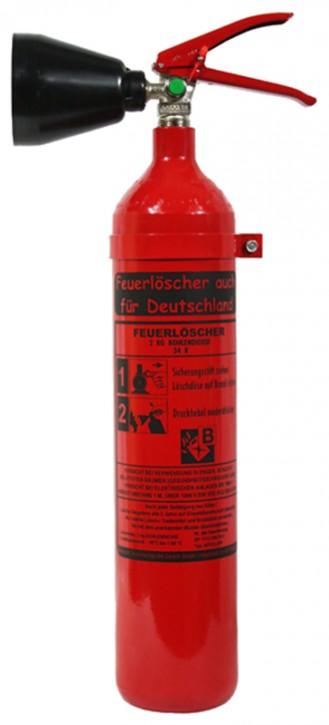Feuerlöscher auch für Deutschland 2 kg co2 Kohlendioxid EDV DIN EN 3 GS + Wandhalterung