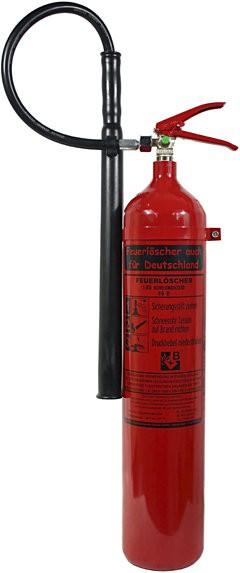 Feuerlöscher 5kg CO2 DIN EN 3 GS Kohlendioxid mit oder ohne Instandhaltungsnachweis erhältlich, Wandhalterung Gewerbe EDV Büro