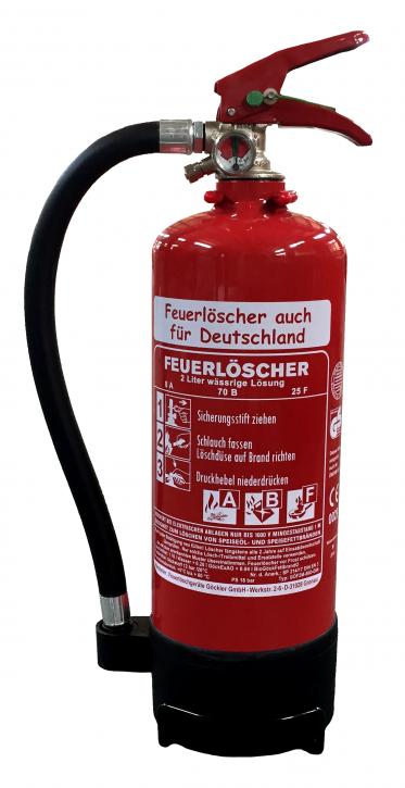 2 L Fettbrand Feuerlöscher DIN EN 3 GS ABF mit oder ohne Instandhaltungsnachweis erhältlich Hotel Haushalt Küche Gastro
