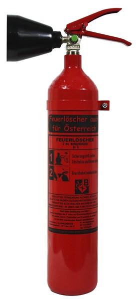 2 kg Feuerlöscher auch für Österreich CO2 Kohlendioxid DIN EN 3 GS EDV Wandhalter, mit oder ohne Instandhaltungsnachweis erhältlich!