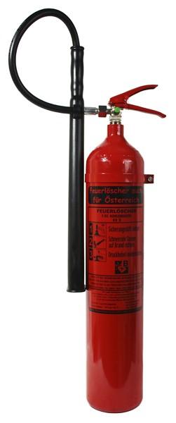 5 kg Feuerlöscher auch für Österreich CO2 Kohlendioxid EDV DIN EN 3 GS Wandhalterung, mit oder ohne Instandhaltungsnachweis erhältlich!