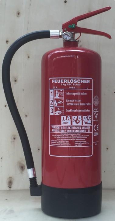 3er Pack 6 kg ABC- Pulver- Dauerdruck- Feuerlöscher EN 3 , Rating:09 LE, 27 A, 144 B