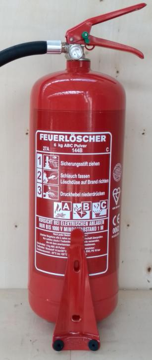 NEU OVP Feuerlöscher ABC Pulver 6 kg EN3 + Manometer + Wandhalter ohne Standfuß