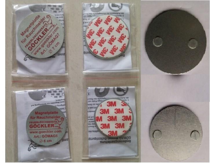 Magnet- Befestigungsset 2-teilig Durchmesser 7 cm