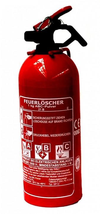 1 kg Feuerlöscher Pulver ABC EN 3 Auto Boot Camping Kfz Halter Auflade