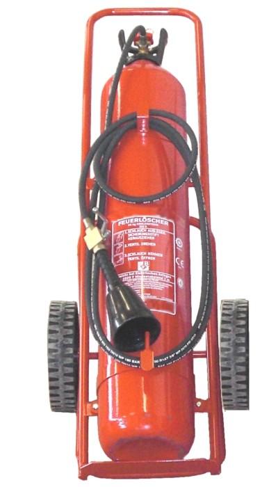 20 kg CO2- Feuerlöscher fahrbar EN 1866 & CE, Rating: 233 B, mit oder ohne Instandhaltungsnachweis erhältlich!