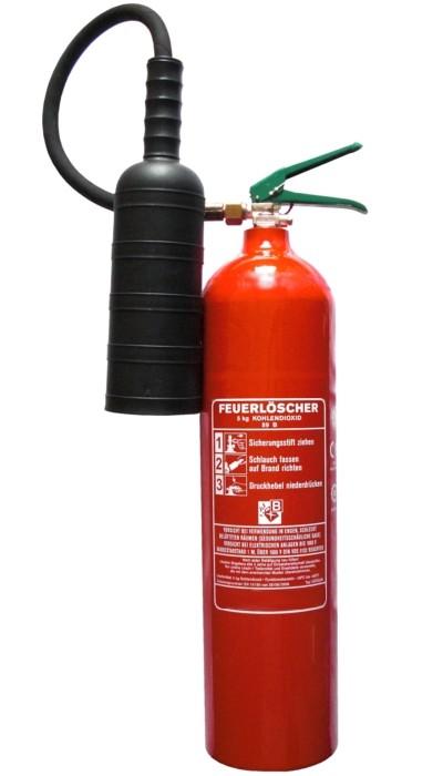 5 kg Alu Kohlendioxid- Feuerlöscher ANTIMAGNETISCH EN 3 , Rating: 89 B = 5 LE, mit oder ohne Instandhaltungsnachweis erhältlich!