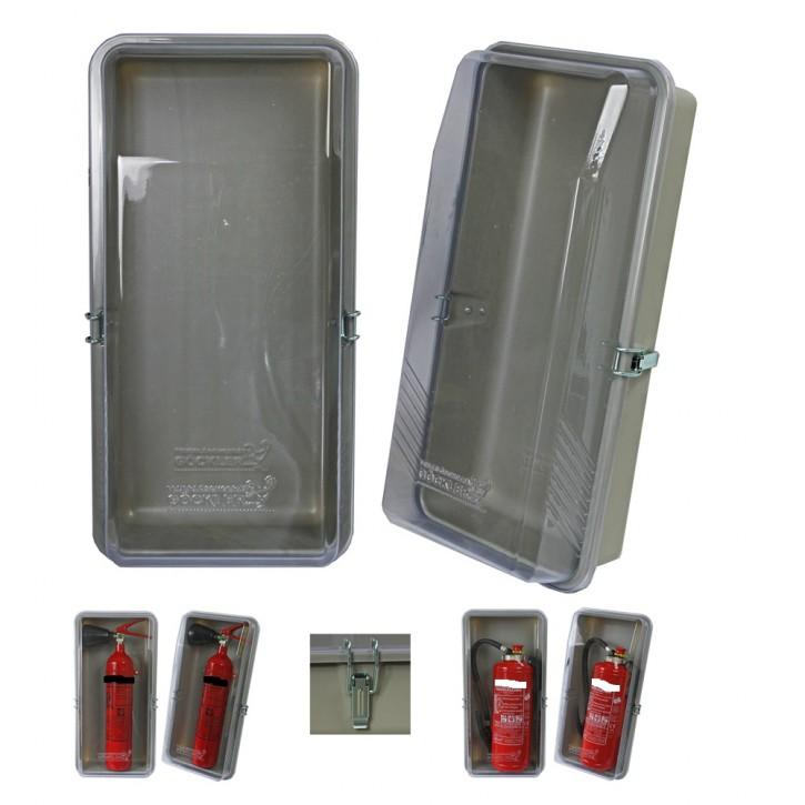 """Schutzbox klar """" Individual"""" für 6 kg Feuerlöscher Feuerlöscher Feuerlöscherkasten Schutzhaube Schutzbox Feuerlöscherschutzschrank LKW"""