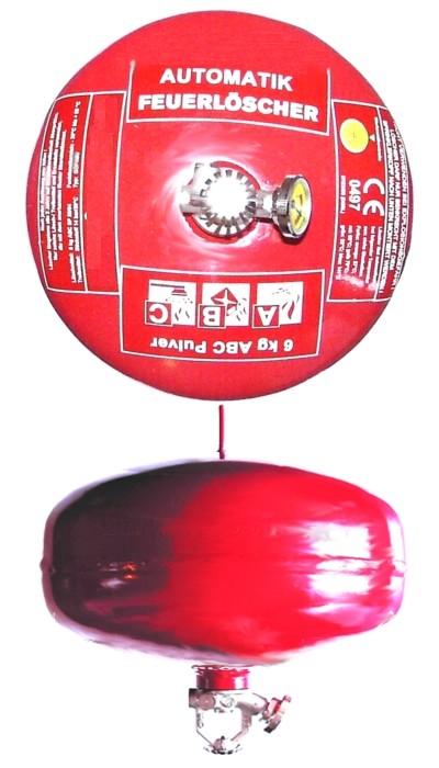6 kg  Automatik-ABC-Pulver- Dauerdruck- Feuerlöscher CE, mit oder ohne Instandhaltungsnachweis erhältlich!