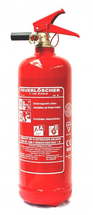 2L Schaum Feuerlöscher AB EN 3 Auto Boot Camping, KFZ Halter, mit oder ohne Instandhaltungsnachweis erhältlich!