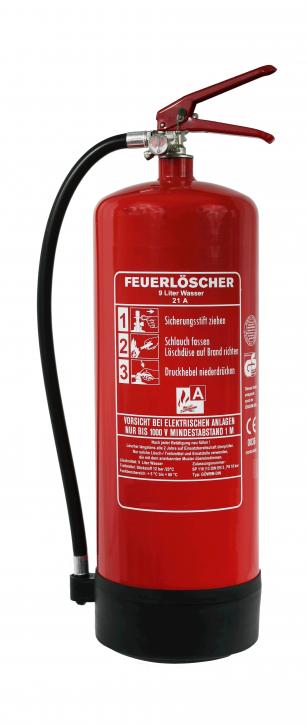 NEU OVP 9 L Wasser Feuerlöscher DIN EN 3 GS + Manometer + Standfuß + Wandhalter, mit oder ohne Instandhaltungsnachweis erhältlich!