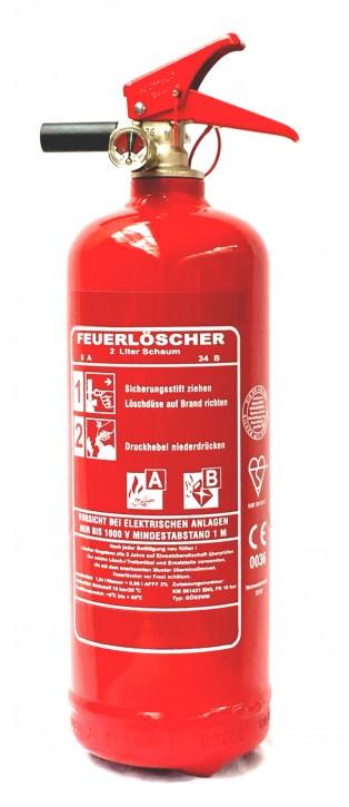 2L Feuerlöscher Schaum AB EN 3 Auto Boot Camping Halter Sprühdüse