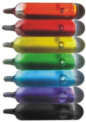 Hier klicken Glaskolben G5/ G8 Orange bis schwarz von 57° C bis 260° C