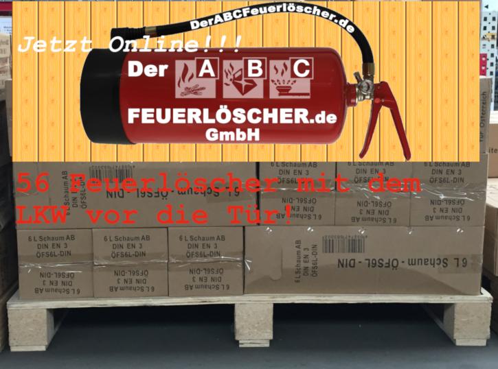 72 St = 1 Pal  6L Feuerlöscher auch für Österreich# Schaum Dauerdruck-Feuerlöscher DIN EN 3 SP 154/13 , GS  , Rating: 06 LE, 21 A, 144 B, mit oder ohne Instandhaltungsnachweis erhältlich!