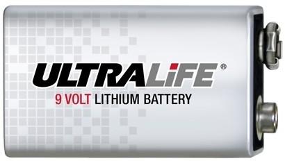 9 Volt Ultralife Lithium Blockbatterie