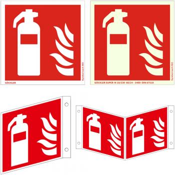 Feuerlöscher Schild 50 - 300 mm ASR ISO Brandschutzzeichen nachleuchtend Pikto.