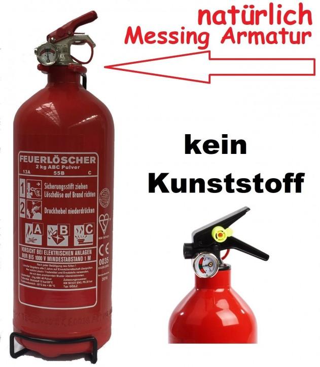 2 kg ABC- Pulver- Dauerdruck- Feuerlöscher EN 3 , Rating: 04 LE, 13 A, 55 B