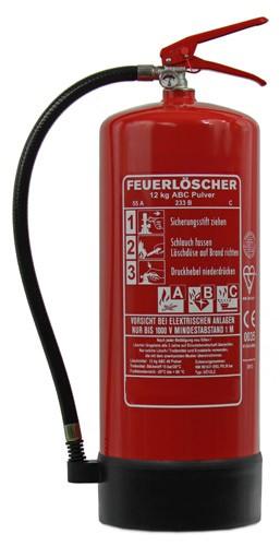 12 kg Feuerlöscher Pulver ABC EN 3 Standfuß Manometer Wandhalter Sicherheit Gewerbe, mit oder ohne Instandhaltungsnachweis erhältlich!